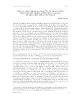 TẠI SAO TÀI SẢN ĐẢM BẢO LÀ YẾU TỐ QUAN TRỌNG TRONG QUYẾT ĐỊNH CẤP TÍN DỤNG CỦA CÁC TỔ CHỨC TÍN DỤNG VIỆT NAM ? potx