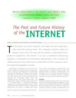The Past and Future History of the INTERNET potx