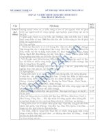 SỞ GD&ĐT NGHỆ AN KỲ THI HỌC SINH GIỎI TỈNH LỚP 12 ĐÁP ÁN VÀ BIỂU ĐIỂM CHẤM ĐỀ CHÍNH THỨC Môn: ĐỊA LÝ ĐỀ SỐ 3 doc