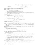 ĐỀ THI THỬ TUYỂN SINH ĐẠI HỌC NĂM 2013 Môn: Toán học ĐỀ SỐ 07 ppt