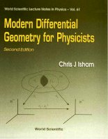 Modern differential geometry for physicists 2nd ed ,   c  isham