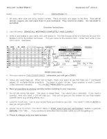 Đề kiểm tra môn sinh học quốc tế - Ngôn ngữ tiếng anh ( Đề 5 )
