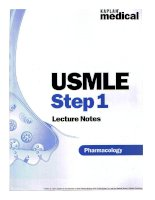 USMLE Step 1 Lecture Notes: Pharmacology doc