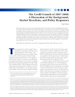 The Credit Crunch of 2007-2008: A Discussion of the Background, Market Reactions, and Policy Responses potx