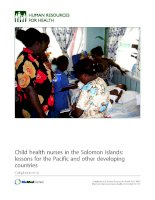 Child health nurses in the Solomon Islands: lessons for the Pacific and other developing countries docx
