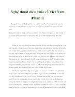Nghệ thuật điêu khắc cổ Việt Nam (Phan 1) pptx