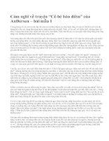 """Cảm nghĩ về truyện """"Cô bé bán diêm"""" của AnĐersen – bài mẫu 1"""