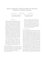 Query Languages and Data Models for Database Sequences and Data Streams doc