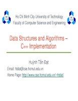 Data Structures and Algorithms – C++ Implementation ppt