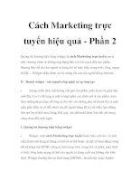 Cách Marketing trực tuyến hiệu quả - Phần 2 pot