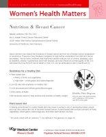 WOMEN''''S HEALTH MATTERS - Nutrition & Breast Cancer pot