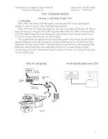 CNC TURNING BASIS - Chương 1: Giới thiệu về máy CNC pptx