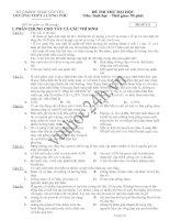 TRƯỜNG THPT LƯƠNG PHÚ Mã đề 131 ĐỀ THI THỬ ĐẠI HỌC NĂM 2013 MÔN SINH HỌC ppt