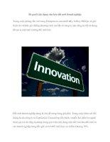 Bí quyết xây dựng văn hóa đổi mới doanh nghiệp pptx