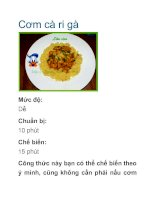 Cơm cà ri gà doc