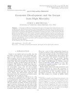 Economic Development and the Escape from High Mortality pdf