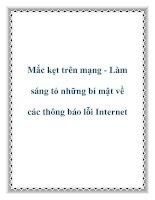 Mắc kẹt trên mạng - Làm sáng tỏ những bí mật về các thông báo lỗi Internet docx