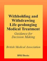 Withholding and Withdrawing Life-prolonging Medical Treatment Guidance for decision making Second edition ppt