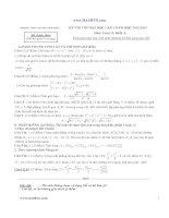 ĐÁP ÁN ĐỀ THI THỬ ĐẠI HỌC MÔN TOÁN NĂM 2012-2013 môn toán 12 khối A đề thi chính thức