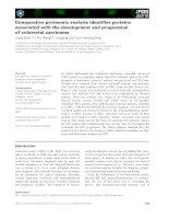 Báo cáo khoa học: Comparative proteomic analysis identifies proteins associated with the development and progression of colorectal carcinoma pot