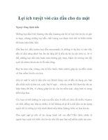 Lợi ích tuyệt vời của dầu cho da mặt pdf