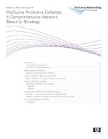 ProCurve ProActive Defense: A Comprehensive Network Security Strategy pot