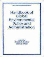 Handbook of Global Environmental Policy and Administration pptx