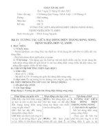 Bài 31: TƯƠNG TÁC GIỮA HAI DÒNG ĐIỆN THẲNG SONG SONG. ĐỊNH NGHĨA ĐƠN VỊ AMPE ppt