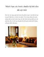 Mách bạn các bước chuẩn bị khi sắm đồ nội thất pdf