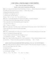 VẬT LÝ 10 NÂNG CAO HAY VÀ KHÓ - ĐÁP ÁN