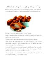 Một số món mà người cao huyết áp không nên dùng pdf