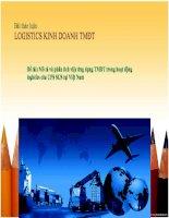 Silde ứng dụng Thương mại Điện tử vào hoạt động logistics của công ty UPS SCS tại Việt Nam