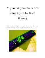 Mẹ làm duyên cho bé với vòng tay cỏ ba lá dễ thương pdf