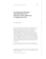 Script(ing) treatment: representations of recovery from addiction in Hollywood film doc