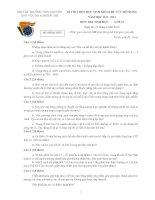 Đề thi HSG khu vực Bắc Bộ năm 2012 Môn Sinh 10 ppt