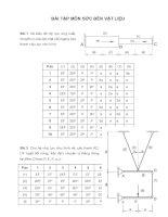 BÀI TẬP MÔN SỨC BỀN VẬT LIỆU pdf