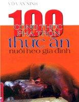 100 công thức pha trộn thức ăn nuôi heo gia đình docx