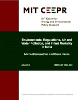 Environmental Regulations, Air and Water Pollution, and Infant Mortality in India pptx