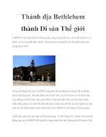 Thánh địa Bethlehem thành Di sản Thế giới pot