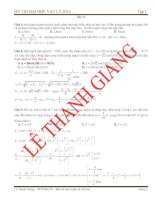 đề ôn thi đại học vật lý 2014 kèm theo đáp án
