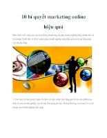 10 bí quyết marketing online hiệu quả pptx