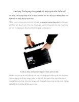 Sử dụng Pin laptop đúng cách và hiệu quả như thế nào? docx