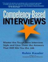 Robin kessler   competency based interviews (2006)