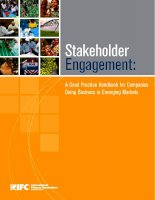 Stakeholder Engagement: A Good Practice Handbook for Companies Doing Business in Emerging Markets pptx