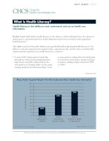 What is Health Literacy? Health literacy is the ability to read, understand, and act on health care information. pdf