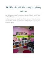 10 điều cần biết khi trang trí phòng trẻ em ppt