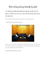 Nguyên tắc bố trí nội thất cho phòng khách ppt