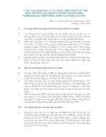 CÁC LỌAI HÌNH ĐẦU TƯ TƯ NHÂN TRÊN LĨNH VỰC CHẾ BIẾN, THƯƠNG MẠI, DỊCH VỤ TRONG NGÀNH NÔNG NGHIỆP&PHÁT TRIỂN NÔNG THÔN TẠI TỈNH AN GIANG pptx