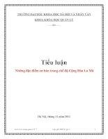 Tiểu luận: Những đặc điểm cơ bản trong chế độ Cộng Hòa La Mã pdf