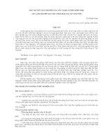 MỘT SỐ KẾT QUẢ NGHIÊN CỨU XÂY DỰNG VƯỜN GIÂM HOM CÂY LÂM NGHIỆP QUY MÔ THÔN BẢN TẠI TÂY NGUYÊN potx